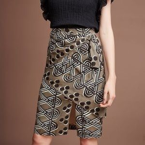Maeve Anthropologie | Edessa Tribal Print Skirt 0P